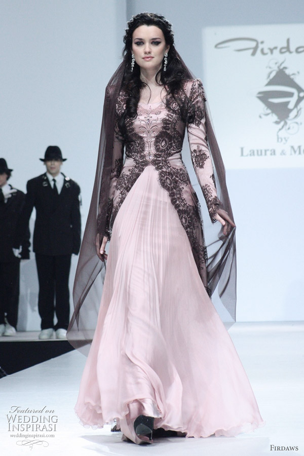 Luxury moslem dress fashion with pink color ideas