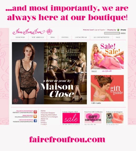 Shop at our Luxury Lingerie boutique Faire Frou Frou