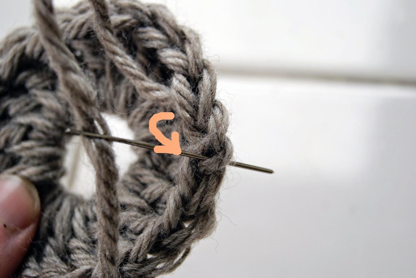 Terminer un ouvrage de crochet ou de tricot en rond - Rentrer les fils tricot ...