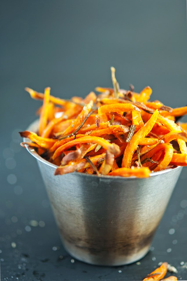 (Hand Cut) Crispy Baked Sweet Potato Shoestring Fries