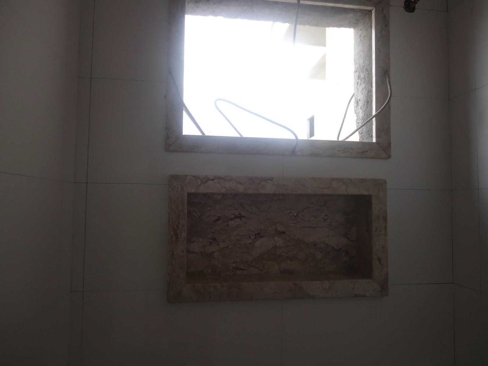 Construindo nossa casa  selma Abril 2014 -> Nicho Banheiro Bege Bahia