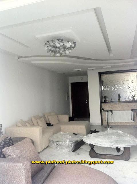 Faux plafond moderne 2013 for Appartement decoration platre