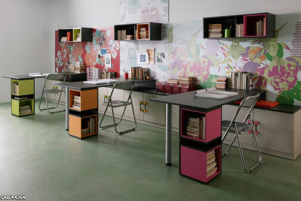 Mesas de estudio a medida escritorios for Escritorios dobles juveniles