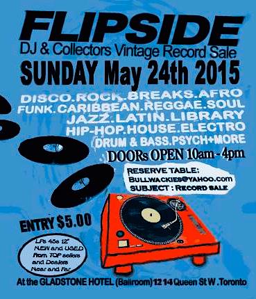 Flipside Vintage Record Sale @ Gladstone Hotel, Sunday
