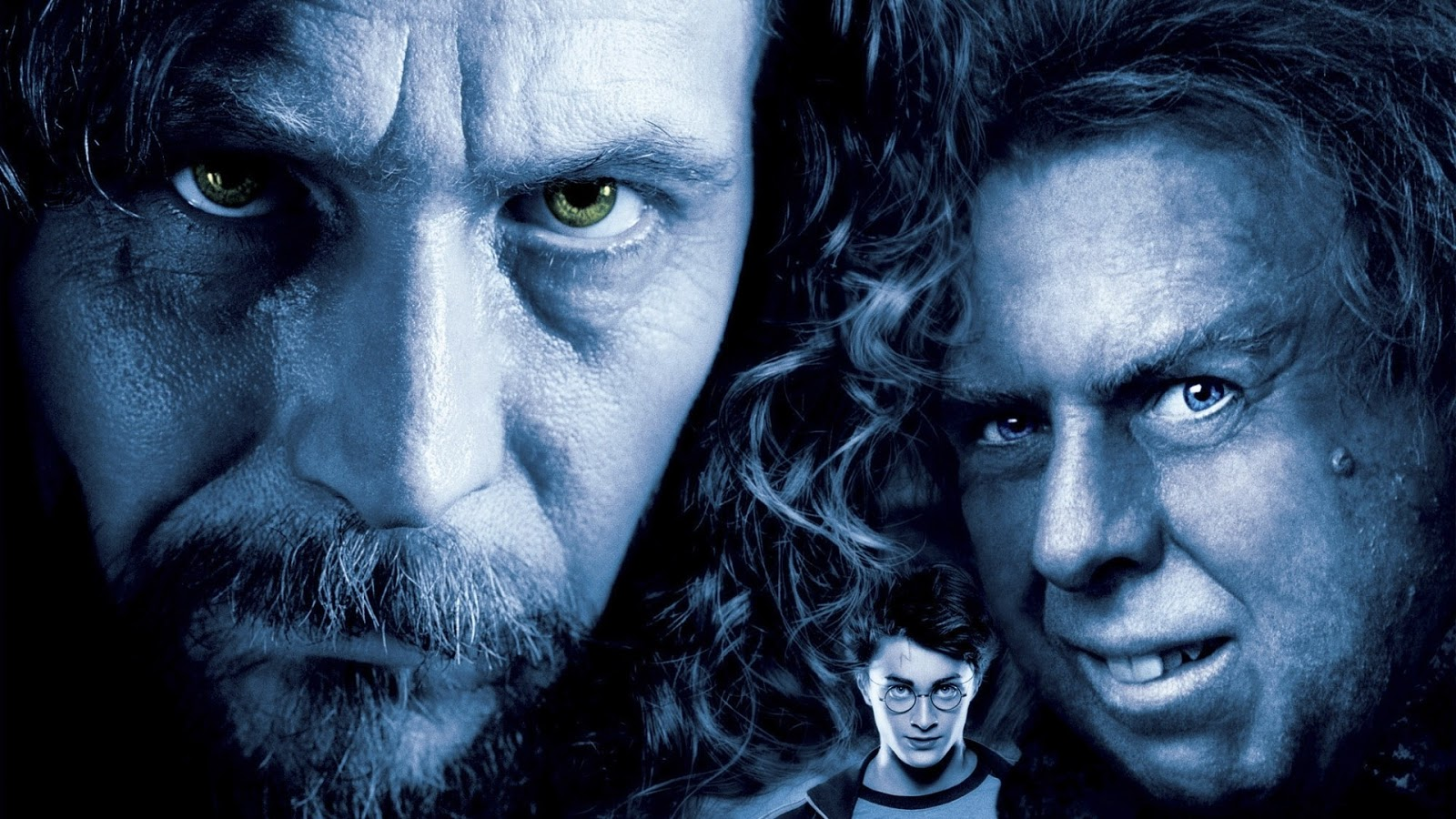 A promo shot of Gary Oldman and Harry in Harry Potter and the Prisoner of Azkaban movieloversreviews.blogspot.com