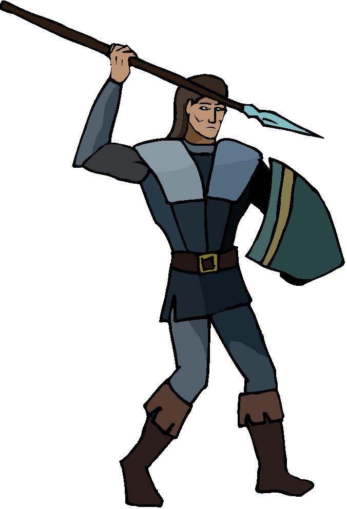 Warrior Try to Pike Target Free Clipart