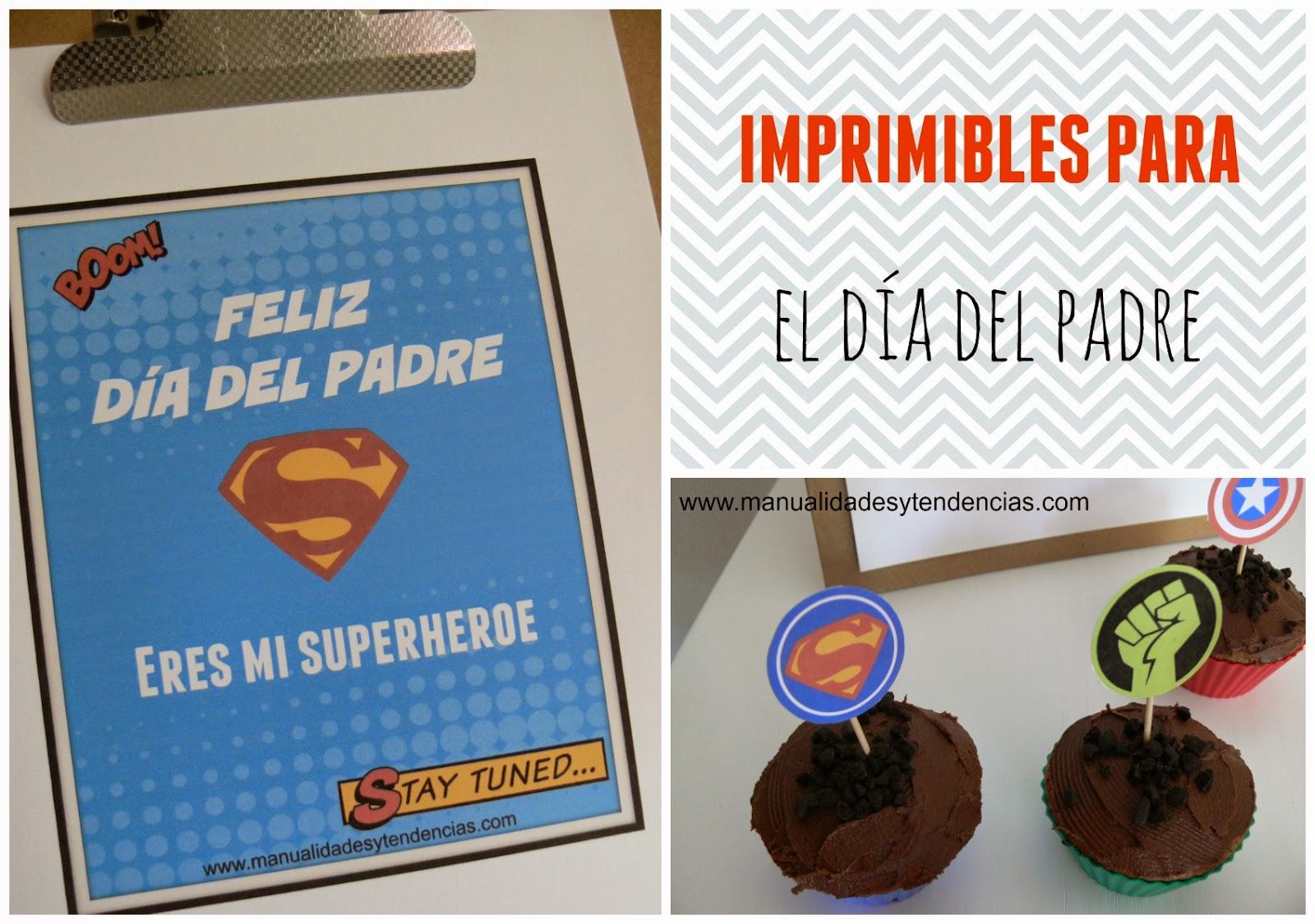 Imprimibles para fiesta del día del padre