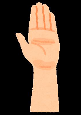 挙げた手のイラスト