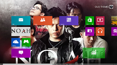 Download Tema Noah Band Untuk Windows 7 Dan Windows 8, Noah Band Wallpaper