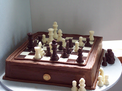 chess cake white and dark chocolate chesscraft
