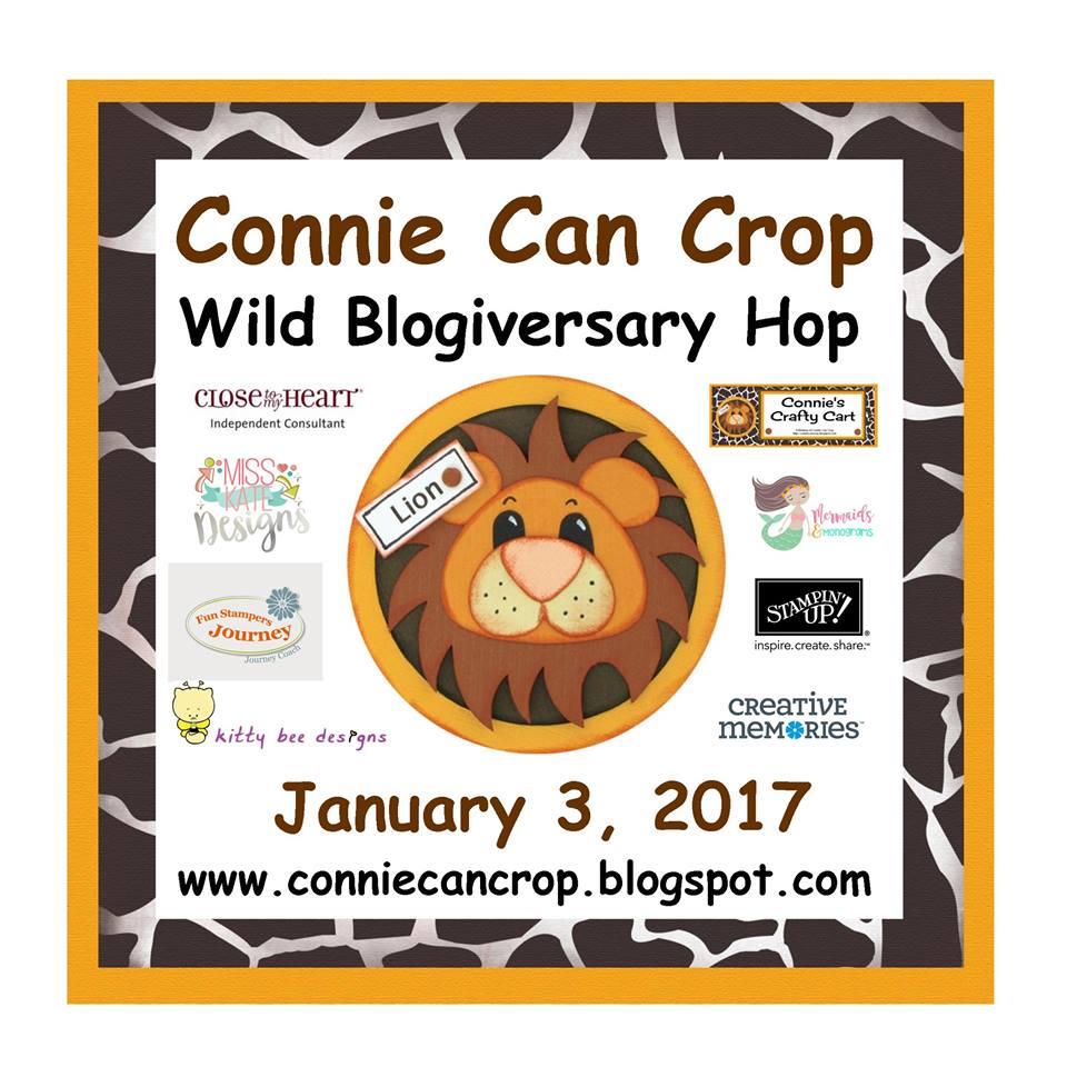 Connie Can Crop Wild Blogiversary Hop