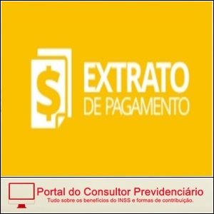 Extrato de pagamento de benefício do INSS.