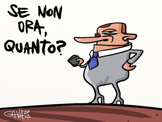 gava gavavenezia satira caricature  berlusconi viscido verme soldi donne rispetto merda