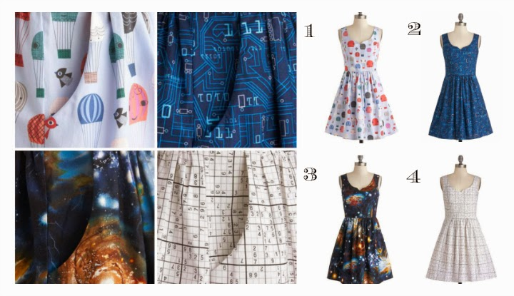 Modcloth dresses, modcloth.com, Air of Adorable, It Takes Sudoku Dress, As Days Go Binary Dress