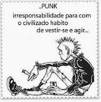 A cultura punk tem uma série de referências subversivas...