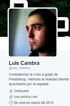 Luis Cambra Prestashop