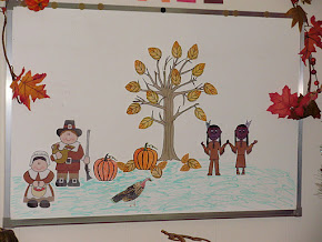 Pilgrims & Indians display / visual aid