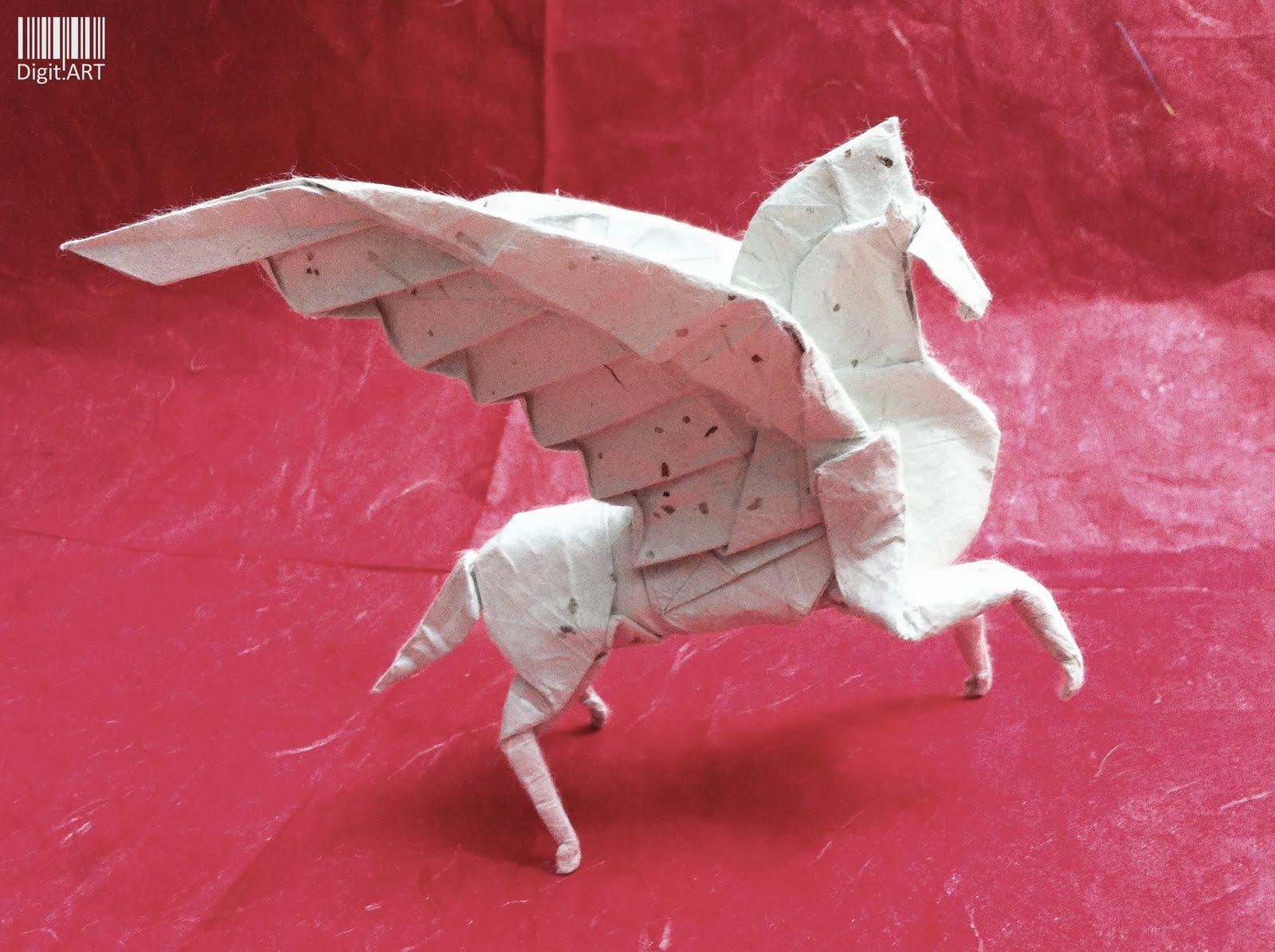 Digitts Blog Origami Pegasus Fumiaki Kawahata