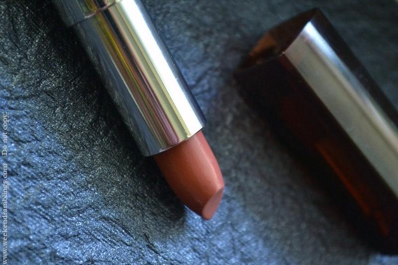 maybelline color sensational lipsticks reviews swatch fotd my mahogany 255
