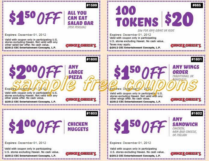 Chuck e cheese coupon codes