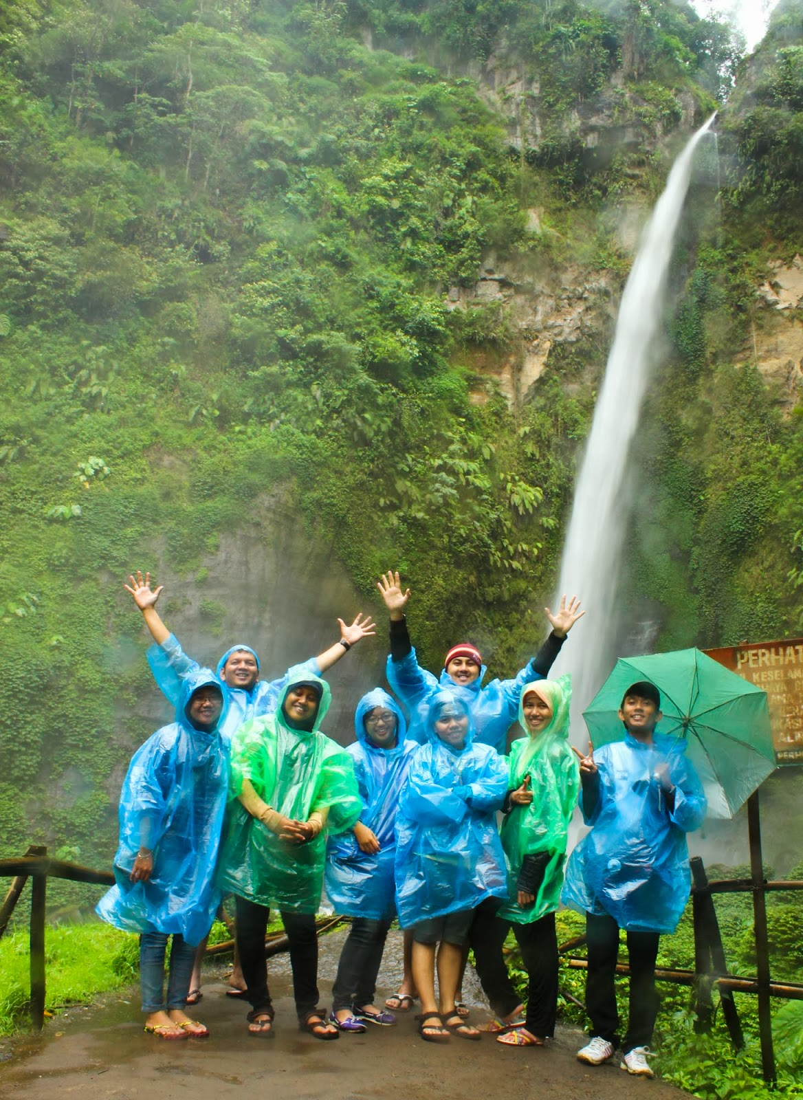 Coban pelangi waterfall