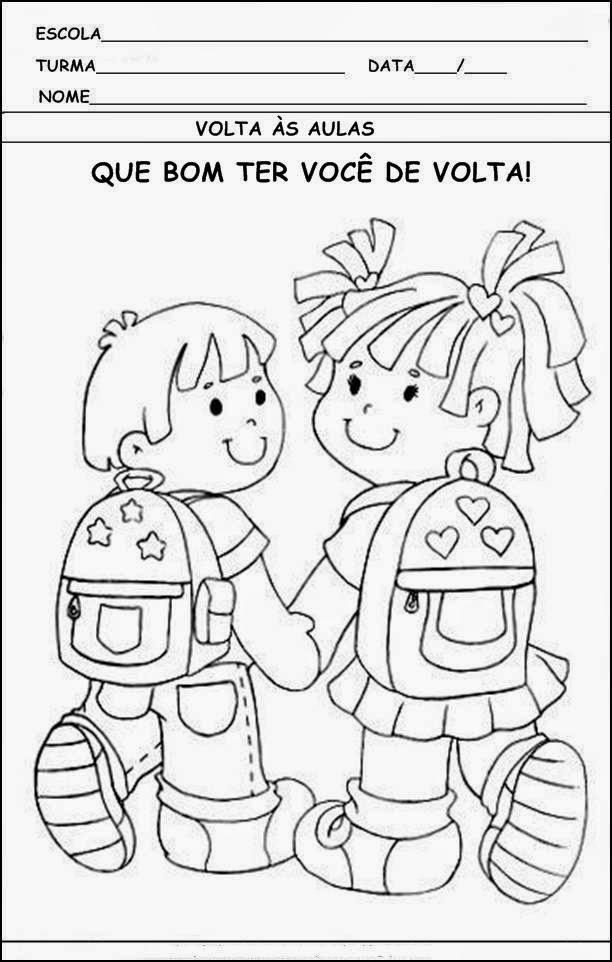 imagens para colorir volta as aulas - Volta as Aulas Desenhos para Colorir Cantinho da