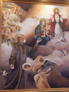 Our Lady of Grace and Padre Pio painting at Barto shrine