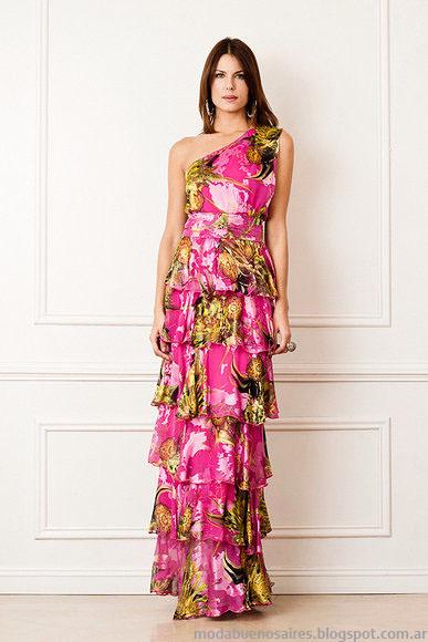 Vestidos moda 2014 Verónica Far primavera verano 2014. Moda verano 2014.