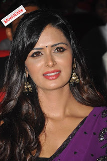 Meenakshi Dixit in lovely Purple Saree