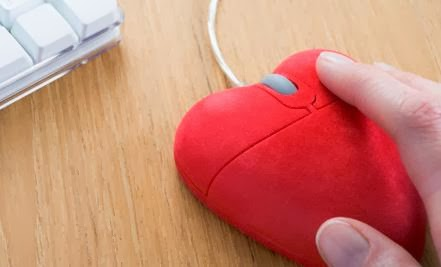 Study: Does Online Dating Lead to a Stronger Marriage - mouse computer shape heart