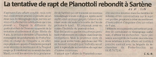 Pianottoli Enlèvement fillette