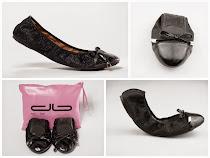 Tus zapatos bailarinas o manoletinas plegables siempre listas en tu bolso! Amamos los tacones!