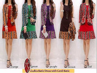 Foto Model Baju Batik Set Dress