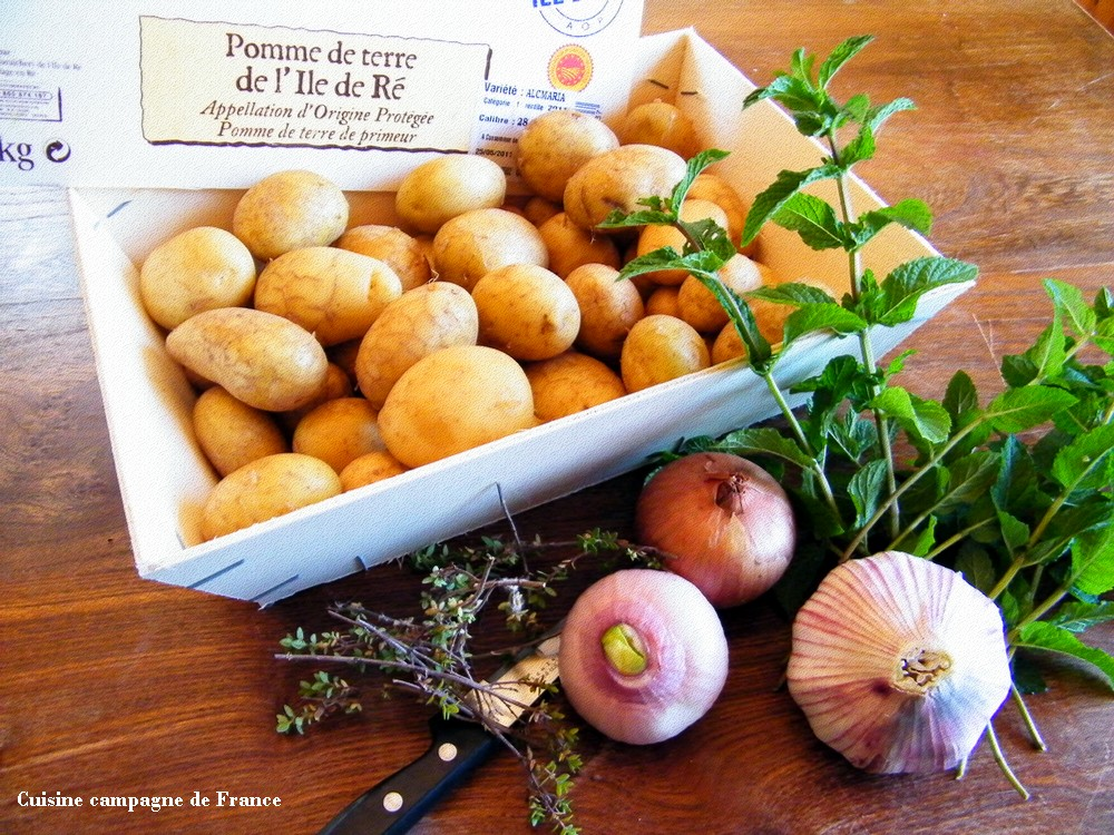 cuisine et campagne de france les pommes de terre nouvelles de l 39 ile de r. Black Bedroom Furniture Sets. Home Design Ideas