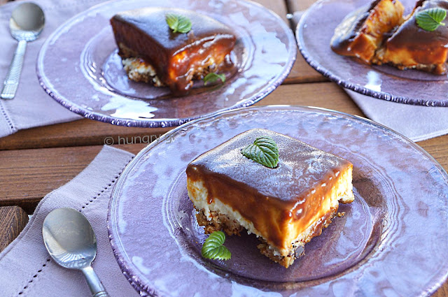 Dessert with Caramel Frosting