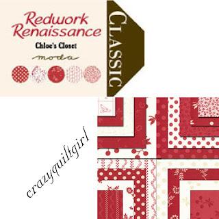 Moda REDWORK RENAISSANCE Quilt Fabric by Chloe's Closet