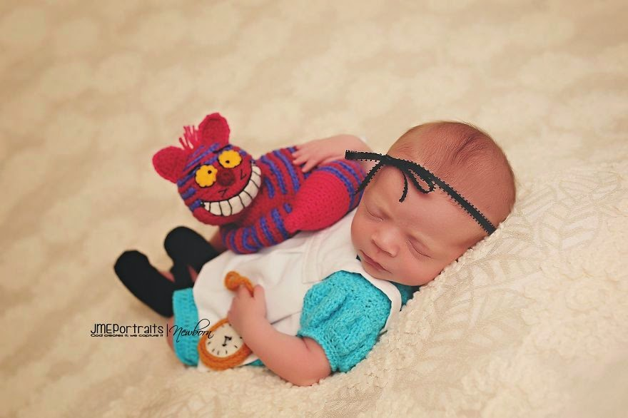 #19 Baby Alice In Wonderland - 22 Geeky Newborns Who Are Following In Their Parents' Nerdy Footsteps