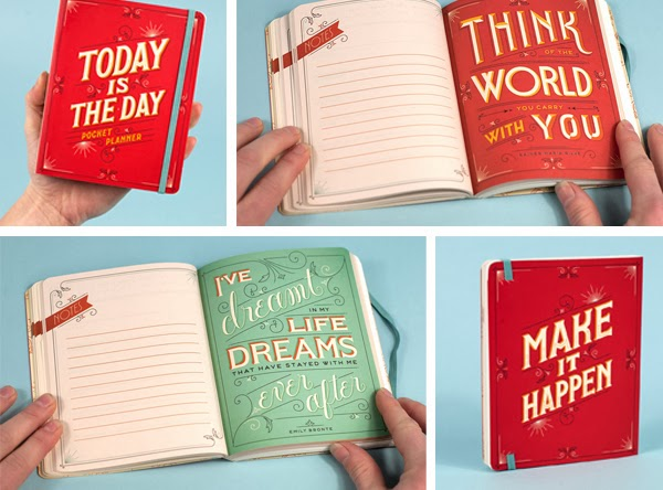 Happiness is... Today is the Day Pocket Planner by Jessica Hische - diaries and planners roundup