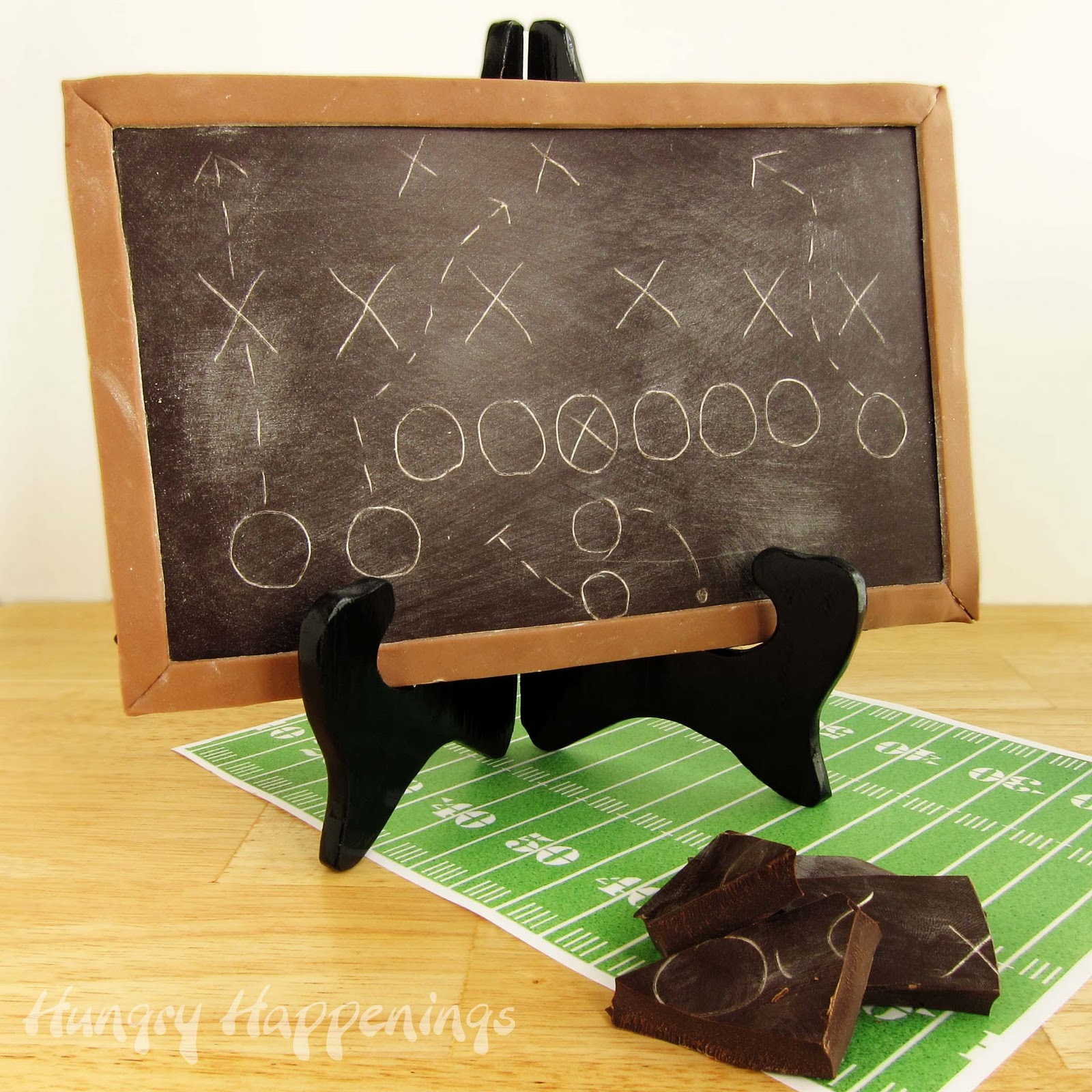 Super Bowl Sweet- Chocolate Game Plan Chalkboard - Hungry Happenings
