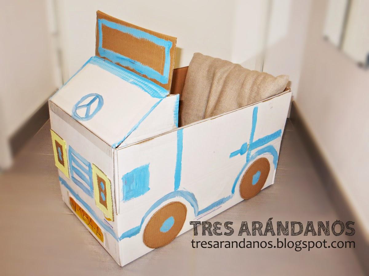 hacer coche con una caja de carton