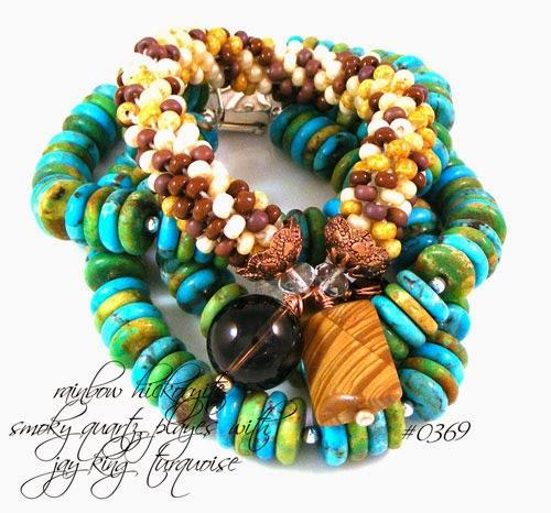 Rainbow Hickoryite & Jay King Turquoise
