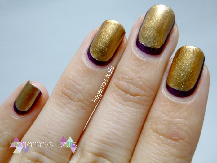 Nail art Ruffian para Nochevieja. Hagamos Nails