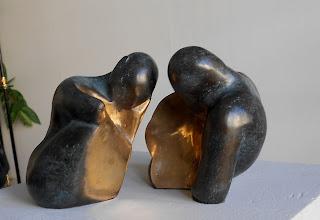 Statue stylisée Couple nu séparable et emboitable