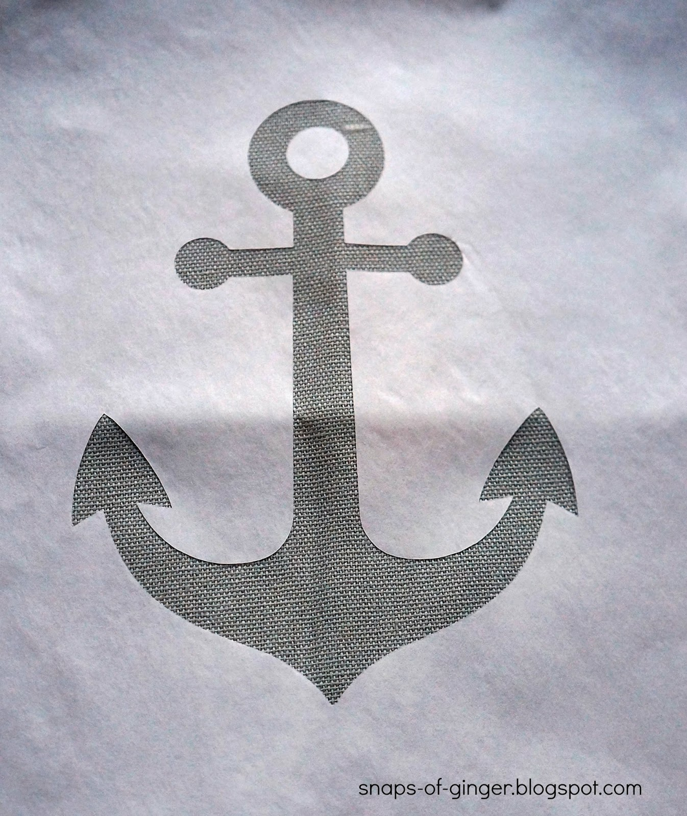 It is a picture of Tactueux Anchor Stencil Printable