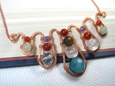 Multi-stone Wirework Pendant