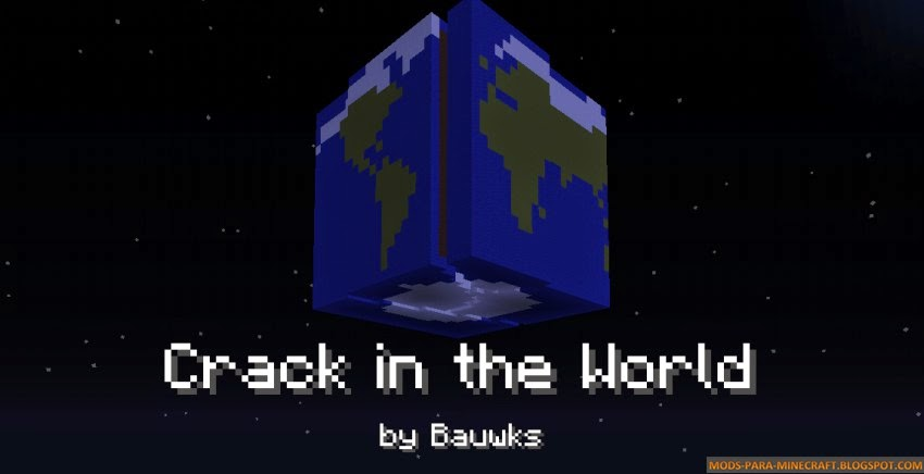 Crack in the World Mapa para Minecraft 1.8/1.8.3