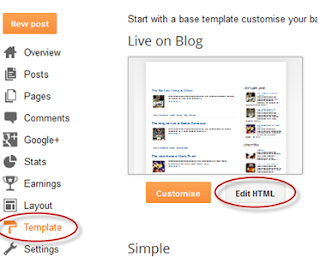 Putting separators Blogger post .