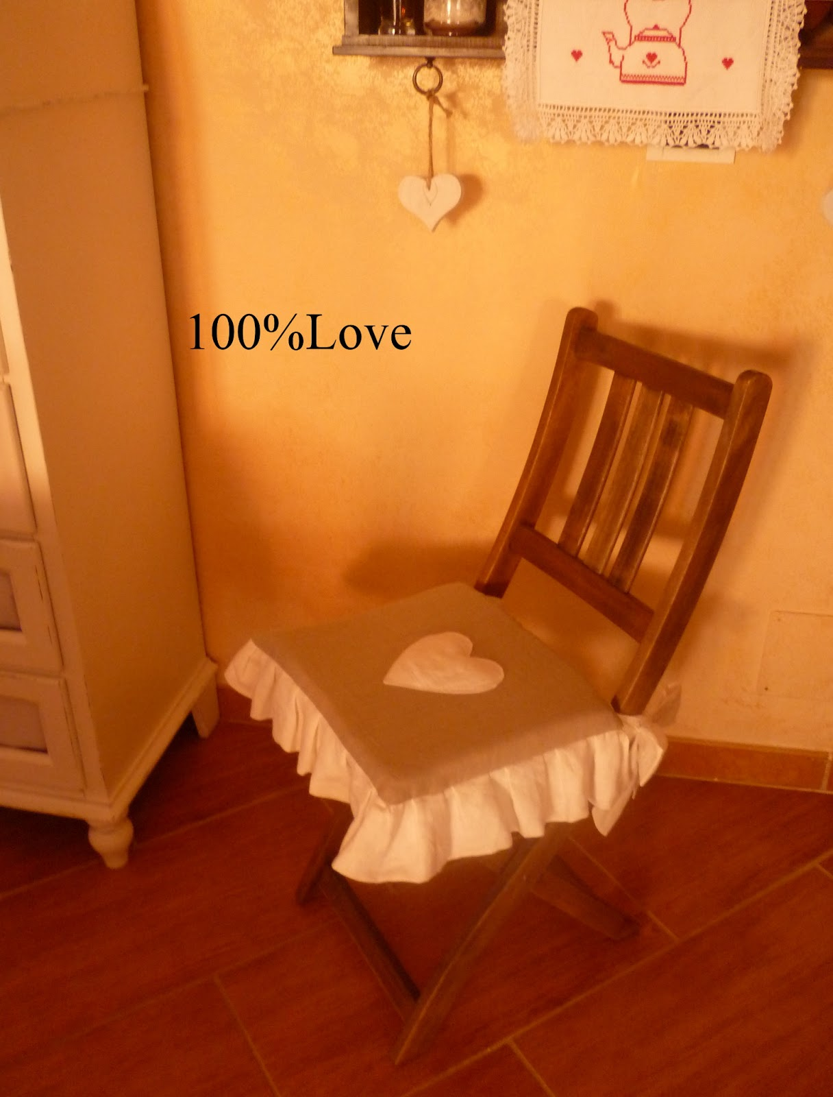 100%LOVE: Cuscino sedia Country