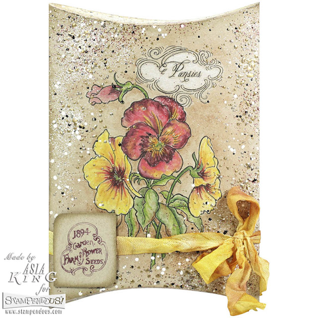 Stampendous Pansy Spray seed packet - DIY gift idea for a gardener