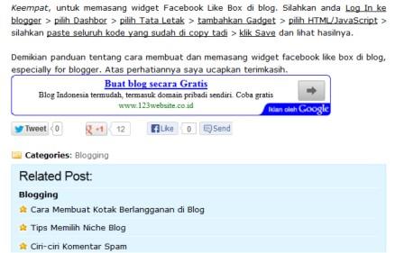 Tips Memasang Social Share Button Keren di Postingan